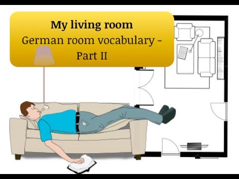 Learn Vocabulary Meine Wohnung Part Ii Das Wohnzimmer Youtube