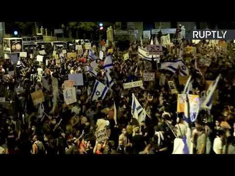 Anti-Netanyahu demo in Jerusalem