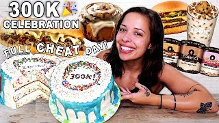 FULL CHEAT DAY!! 300K Celebration (7,800 calories!)