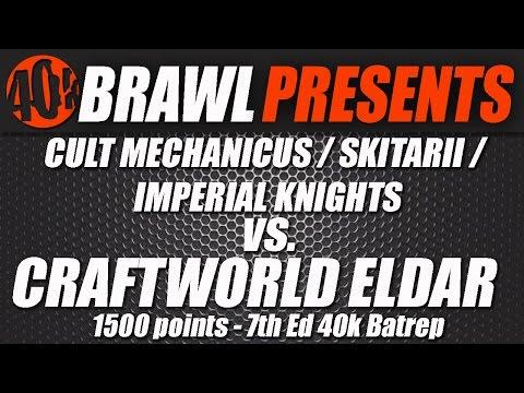 40KBrawl! UKGT Format - 1500pts ADMECH WAR CONVOCATION VS ELDAR HORNETS NEST Video Batrep