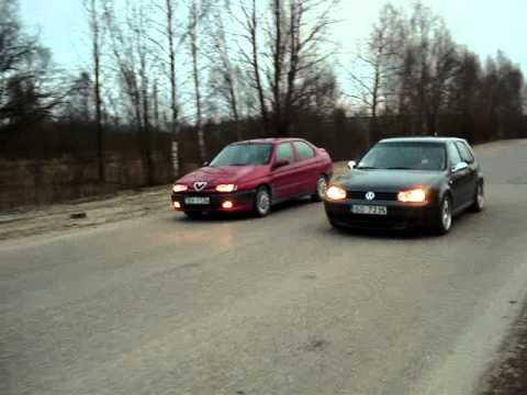 mk4 golf 1 4 16v vs alfa romeo 1 6 16v ts youtube. Black Bedroom Furniture Sets. Home Design Ideas
