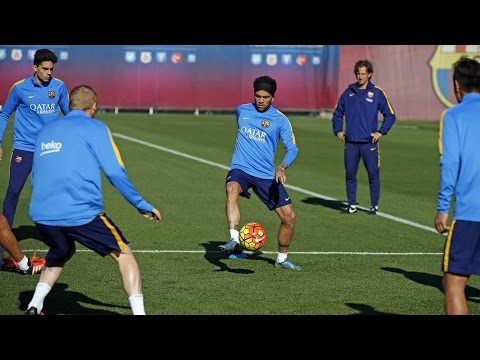 FC Barcelona training session - Preparations for Eibar match go on