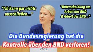 Die Bundesregierung hat die Kontrolle über den BND verloren!