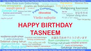 Tasneem   Languages Idiomas - Happy Birthday