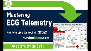 Mastering Cardiac Telemetry ECG Nursing School Nursing KAMP NCLEX Prep 2019