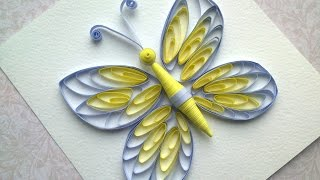 Quilling instructions: How to make quilling butterfly with comb. Quilling patterns.
