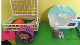 My Life As SPA SET and SMALL PET SET Unboxing Hamster and Hedgehog