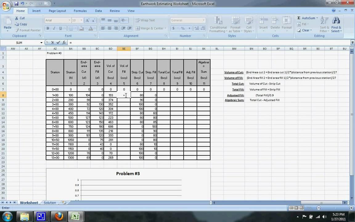 Earthwork Estimating Example 3 Youtube