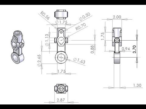 Solidworks 3D modeling of Auto idler arm step by step