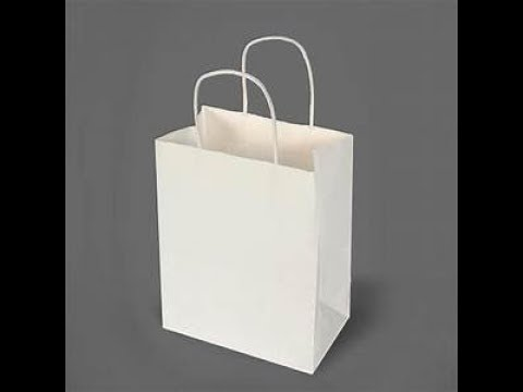 Easy way to make paper gift bags