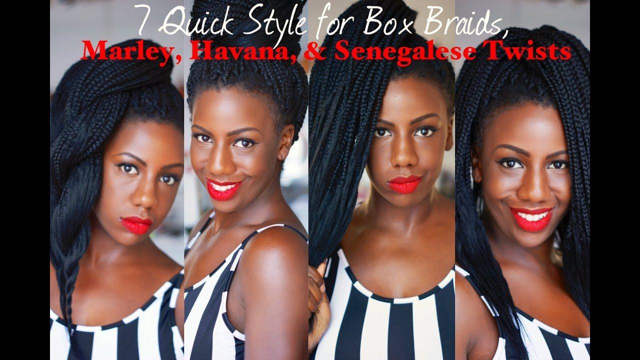 7 Quick Styles For Marley Twists, Havana Twists, Box