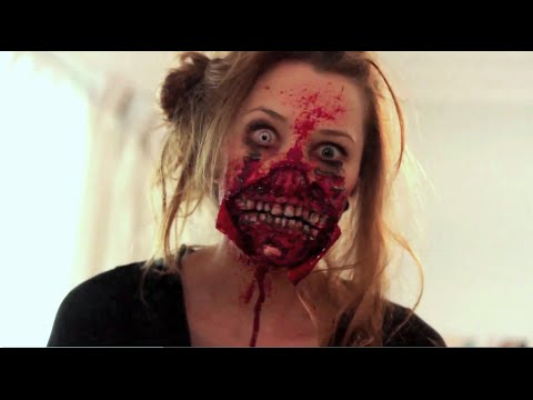 Ripped Mouth Zombie Makeup Application | Freakmo