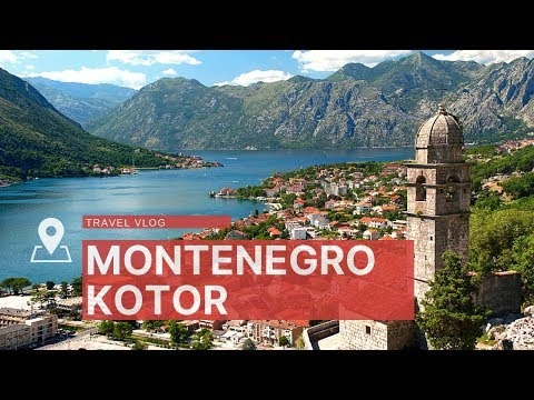 Kotor, Montenegro. Kotor old town and of the Bay of Kotor