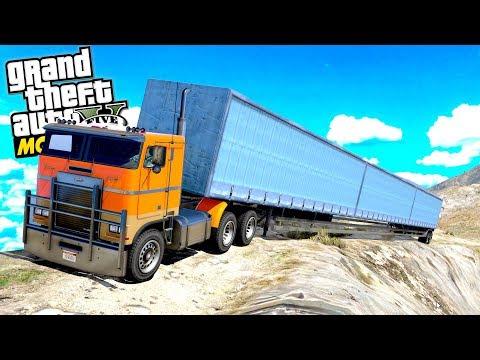 The SUPER SIZE TRAILER Challenge? (GTA 5 Mods)