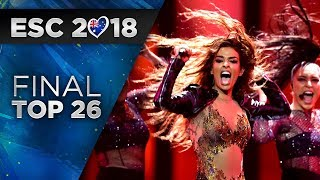 Eurovision 2018 | Grand Final - My Top 26
