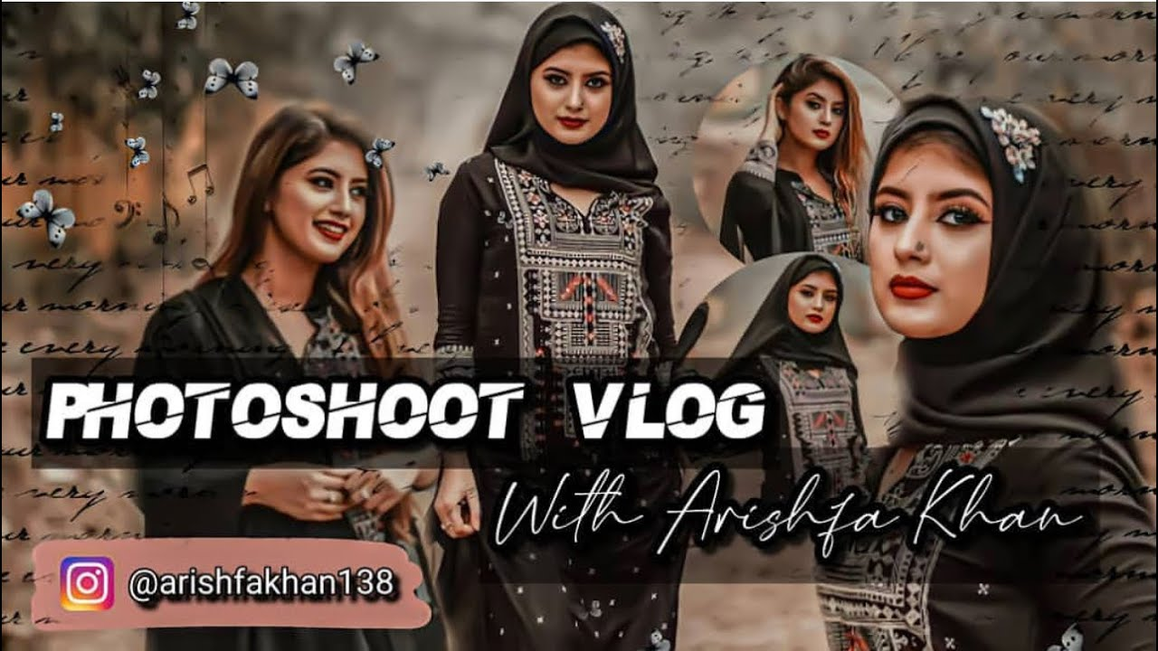 Hijaab photoshoot vlog | Arishfa Khan