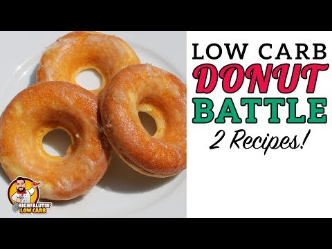 Low Carb DONUT BATTLE - The BEST Keto Doughnut Recipe!