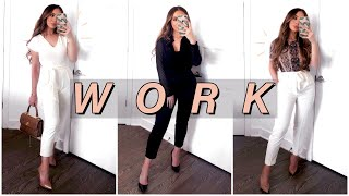 HOW TO LOOK STYLISH AT WORK | WORK ATTIRE LOOKBOOK