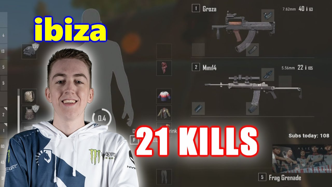 Team Liquid ibiza - 21 KILLS - Groza+Mini14 - SOLO - PUBG