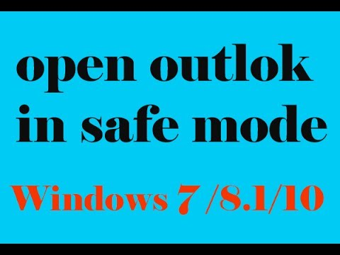 How To Open Outlook In Safe Mode In Windows 8 1