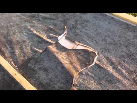 видео: Порвалась кровля из рубероида