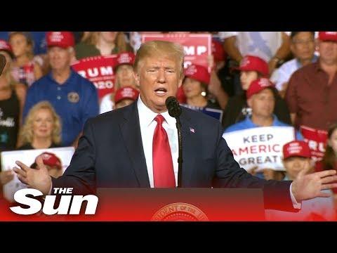Trump blasts heckler