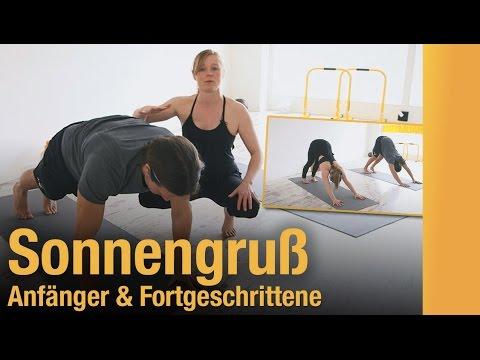 yoga sonnengru einfach erkl rt zum mitmachen zwei varianten f r einsteiger und. Black Bedroom Furniture Sets. Home Design Ideas