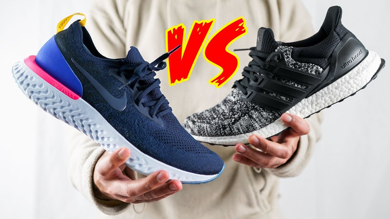 sports shoes a2702 fbefe HONEST Nike Epic REACT vs Ultraboost COMPARISON   THE TRUTH