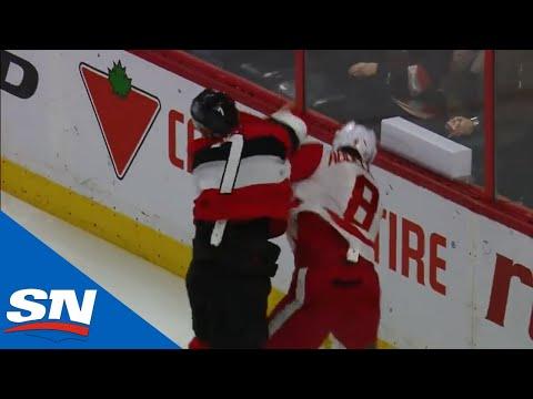 Senators' Tkachuk Scores The Knockdown In First NHL Fight