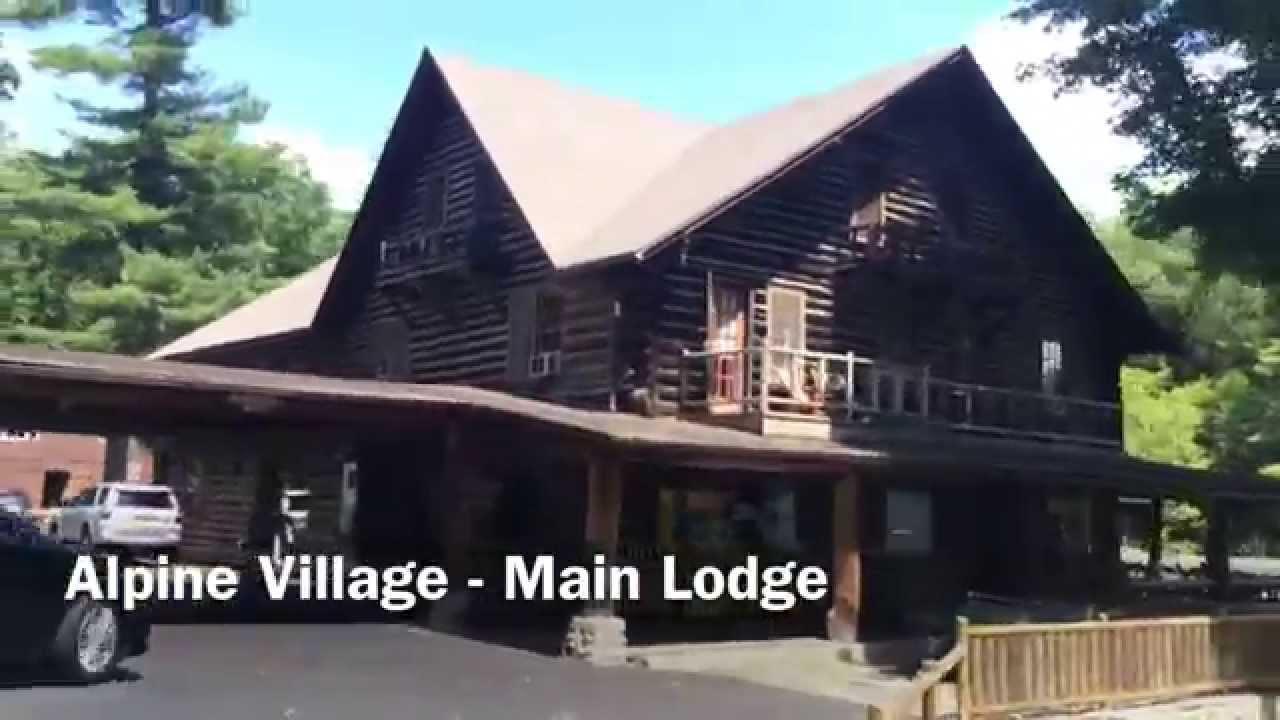 Alpine village lake george the main lodge youtube for The alpine lodge