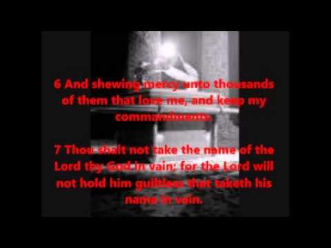 Exodus 20:1-17 10 Commandments Words & Audio KJV
