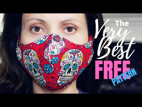 How To Sew The VERY BEST Fitted Fabric Face Mask With Filter Pocket And Nose Support [FREE PATTERNS]