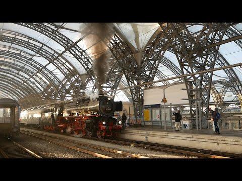 Die 01 202 verlässt Dresden über die Tharandter Rampe zurück in die Schweiz (über 1000 km), 15.4.19
