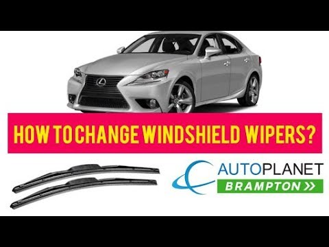 How to Change Windshield Wipers on Lexus?