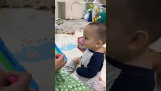 Mama Citra Ajari Mas Athar Gambar, Asik Sambil Joget2 Dia