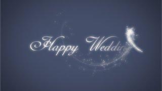 【旧】らぼわん 結婚式ムービーの無料素材 魔法の杖で現れる「Happy Wedding」 thumbnail