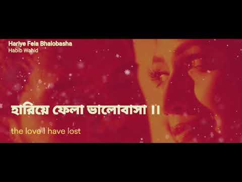 Hariye Fela Valobasha_  Habib Wahid lyrics with English translation