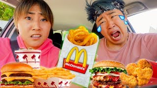Letting the person in front of us DECIDE what we eat MUKBANG (GONE WRONG)