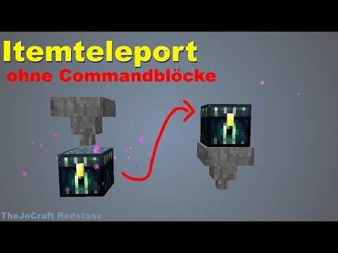 ITEM TELEPORTER ohne COMMANDBLÖCKE | Kein Fake | Tutorial