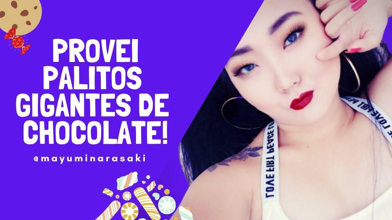 PROVEI PALITOS GIGANTES DE CHOCOLATE   #FOODPORN #UNBOXINGDECOMIDA
