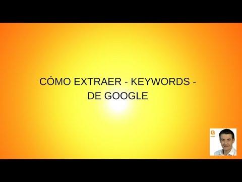Cómo extraer keywords de Google para Tiendas Online | SEO