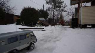 UAZ-3962, GAZ-3308, russian trucks snow test. RC 1:10