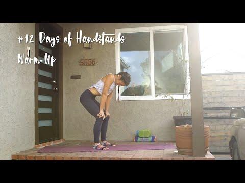 Handstand Warm Up | YogaSlackers 12 Days of Handstands