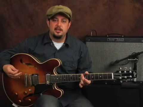 Guitar jazz funk chords groove lesson style of John Scofield jazzy rhythms R&B