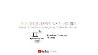 2018 평창동계올림픽 실시간 메달 집계 Olympic Winter Games Pyeongchang 2018 live Medal Count