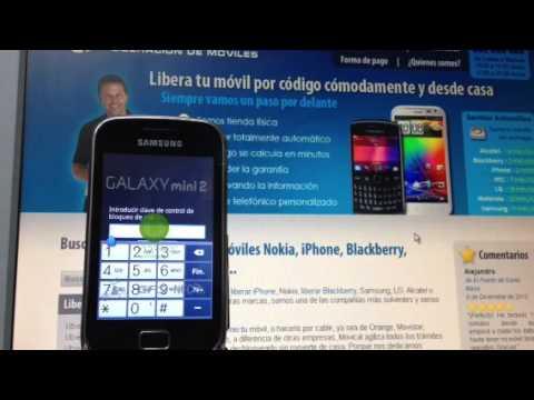Liberar samsung galaxy mini 2 s6500 por imei movical net - Movical net liberar ...