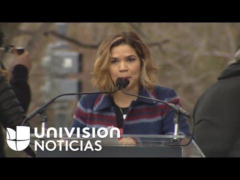 """America Ferrera: """"No dejaremos de ser una nación de inmigrantes para ser un país de ignorantes"""""""