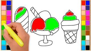 Drawing and Coloring Ice Cream