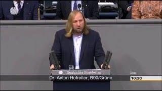 Anton Hofreiter (Die Grünen) im Bundestag