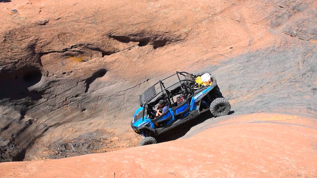 Polaris Side By Side >> Moab Off Road Polaris RZR 1000 Hell's Revenge Hot Tub and Escalator - YouTube